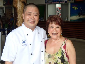 Lance's mentor, Australian TV chef Elizabeth Chong. Also a big fan of his work in the South Pacific