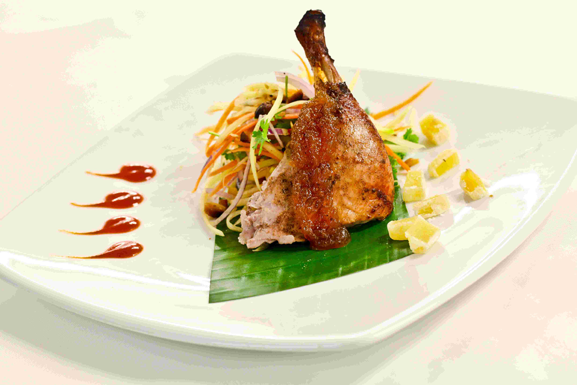 Cumin Roasted Duck with Mango Cardamom Chutney